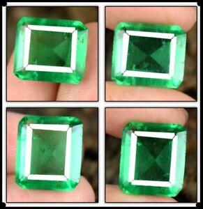 Natural 9.45 Ct Muzo Colombian Emerald Gemstone Octagon Cut AGI Certified A61986