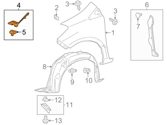 TOYOTA OEM 12-14 Yaris Fender-Upper Seal Right 5386652090