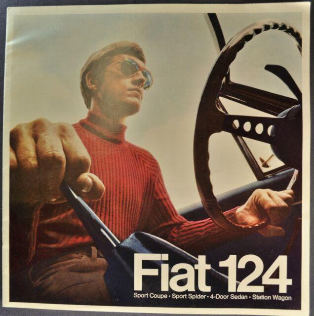1969 Fiat 124 Catalog Brochure Sport Spider Coupe Wagon Excellent Original 69