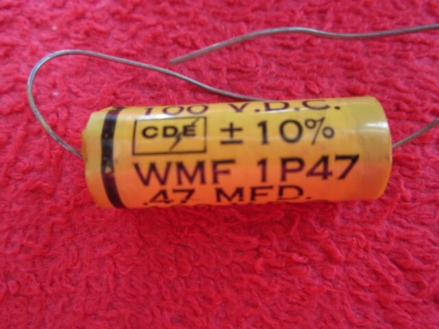 .47uf @ 200V Wax Cap NEW Vintage Cornell Dubilier Tiger Guitar Tone Capacitor