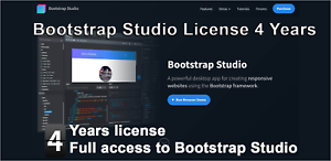Bootstrap Studio license 4 Years - Full access to the best developer tools