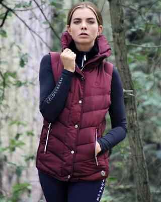 Coldstream Ladies Kimmerston Quilted Padded Warm Gilet Navy//Burgundy XS XL