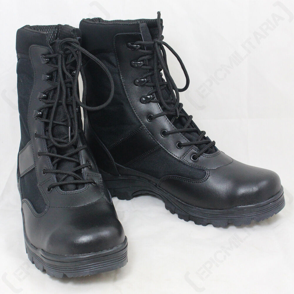 BLACK SECURITY Airsoft Stiefel - Army Combat Military Airsoft SECURITY Paintballing Hunting Unisex 50b71b