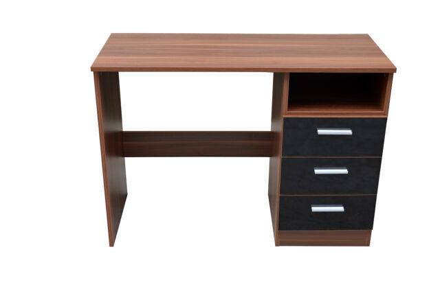 NEW Caspian High Gloss Black & Walnut Bedroom Furniture Set - Full Supreme Range
