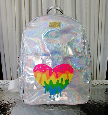 New Metallic Hearts Backpack Black