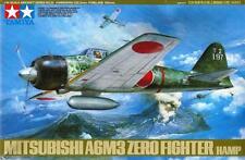 MITSUBISHI A6M3 ZERO/HAMP (W/PILOT & GROUND CREW)/JAPANESE AF MKGS/ 1/48 TAMIYA
