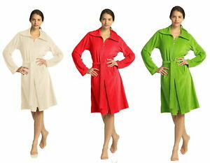 Vossen Femme Peignoir Robe de Chambre Nora Beige Rouge Vert ...