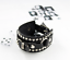 Punk-Leather-Bracelet-Rock-Stud-Chain-Cuff-Bangle-Adjustable-Wristband-Bracelet thumbnail 8