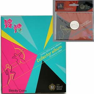 Official Olympic 50p Completer Medallion COIN ALBUM FOLDER Royal Mint