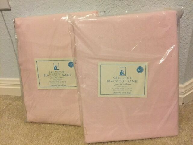 Set 2 New Pottery Barn Kids Sailcloth Blackout Drape