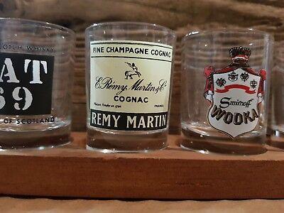 Cognac. Vat Remy Martin … 6x Auf Holzbrett Vintage Probiergläser Whiskey