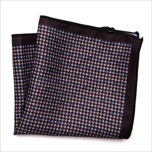 Vintage Paisley Floral Handkerchief Mens Silk Pocket Square Hanky Wedding Party