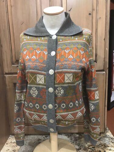VTG  Catalina Jacquard Cardigan Sweater Women's 40