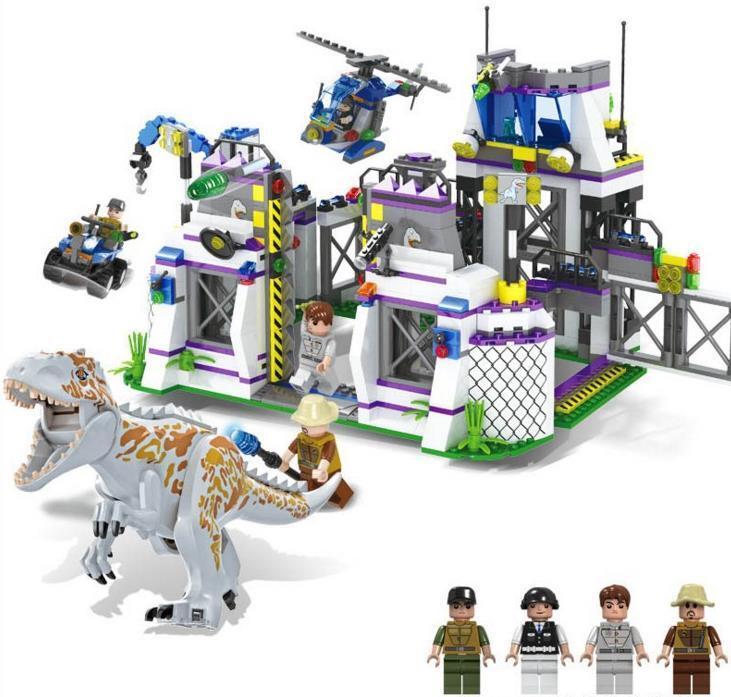 Jurassic World Tyrannosaurus Base Escape Building Blocks 2019 Christmas Kid Gift