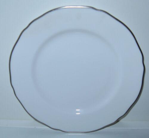s Spode Nordic White Platinum Trim Dinner Plate