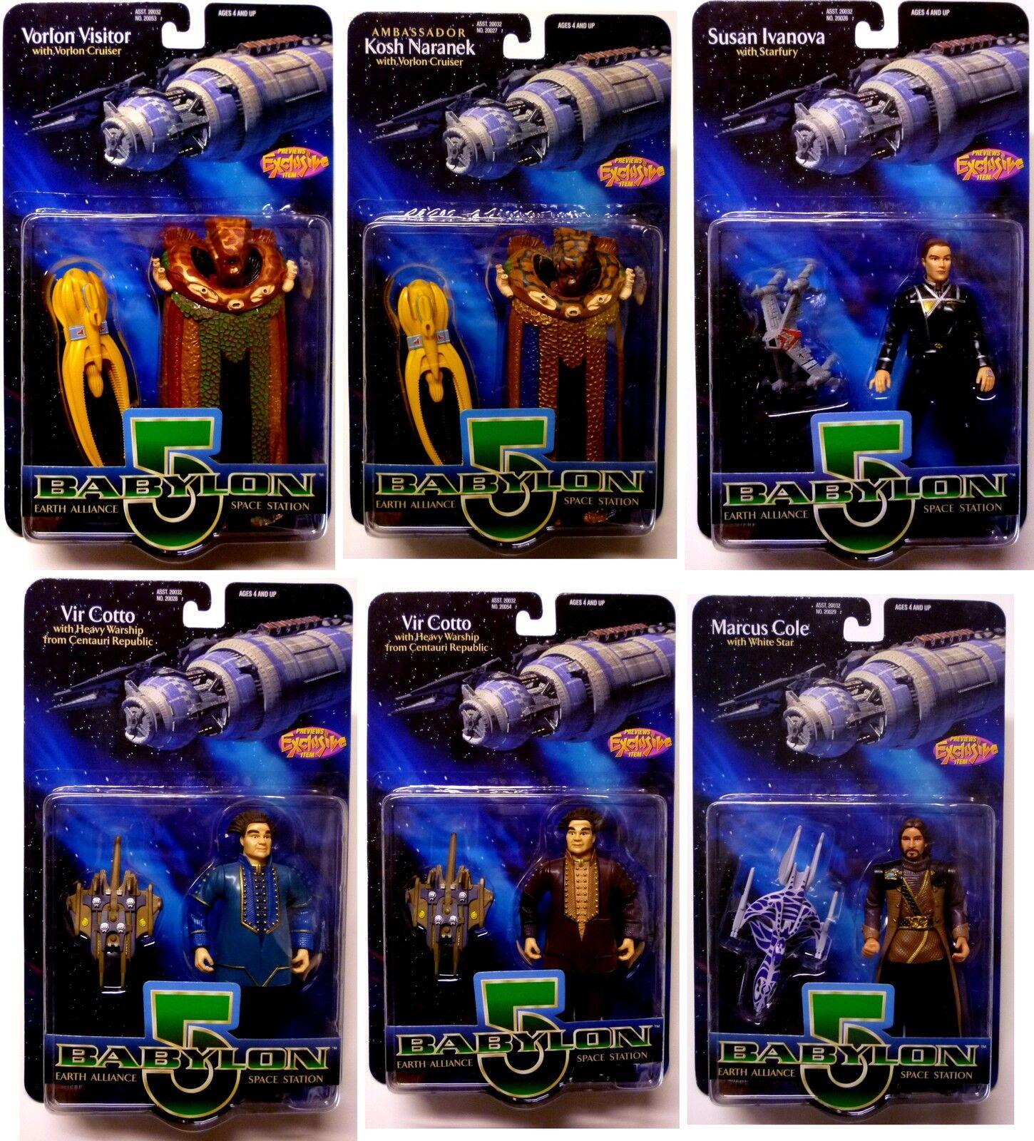 Babylon 5 serie 2 Acción Figura Conjunto de 6 con Kosh Cotto Ivanova Cole, etc.