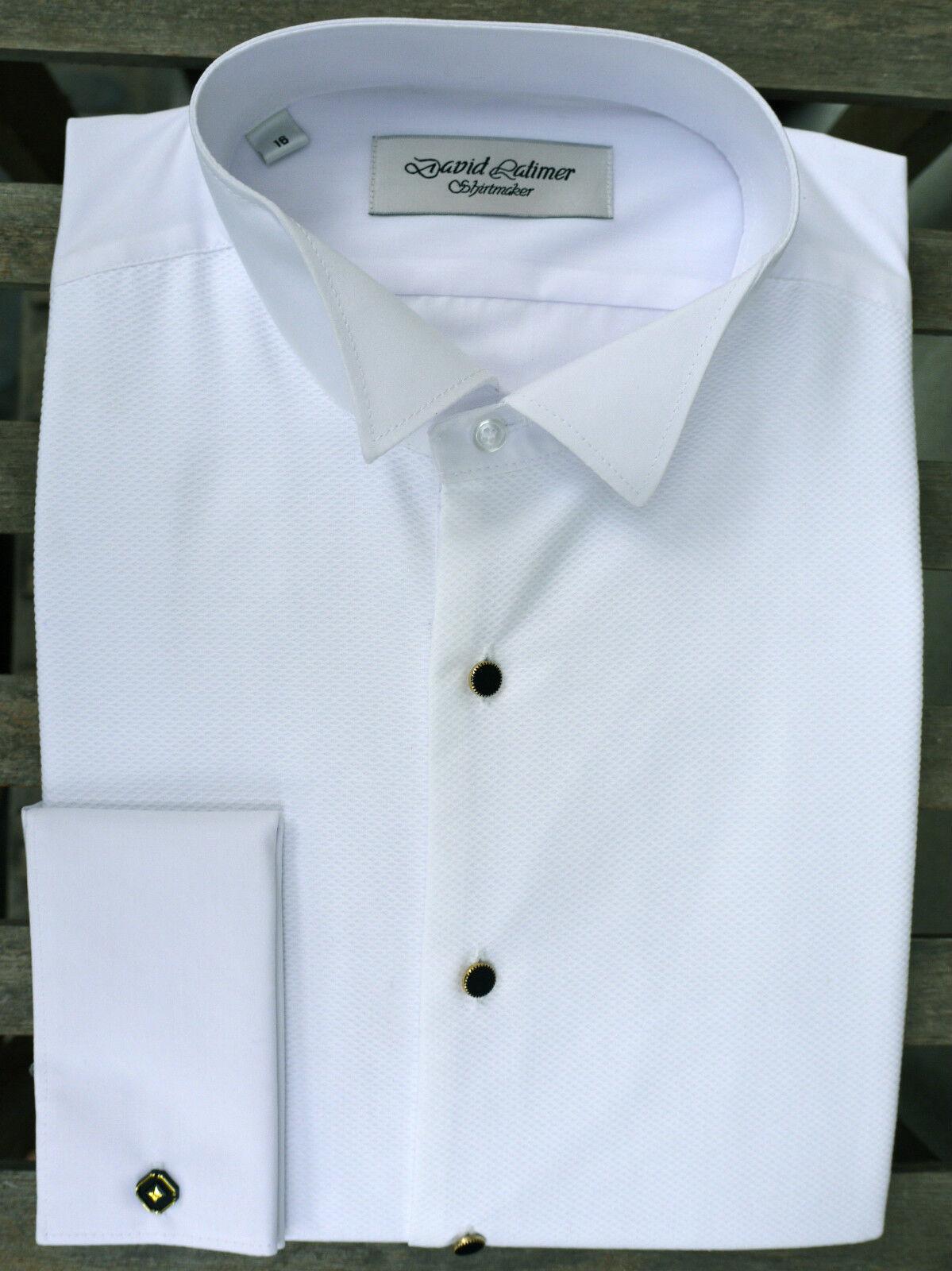 bianca WING Collar Camicia Abito in 100% COTONE MARCELLA
