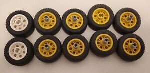 LEGO-Tires-Wheels-Lot-of-Yellow-Construction-Vehicle-Rims-Car-Truck-Technic