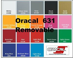 "10 Rolls 5 Feet  Oracal 631 12/"" Adhesive Vinyl Craft hobby//sign maker//cutter"