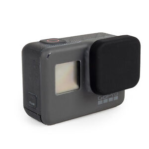 Silicone Lens Cover Protective Cap compatible with GoPro Hero 7/6/5 Colour Black