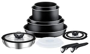 Tefal-Ingenio-Essential-Non-Induction-13-Piece-Pan-Set-with-Detachable-Handles