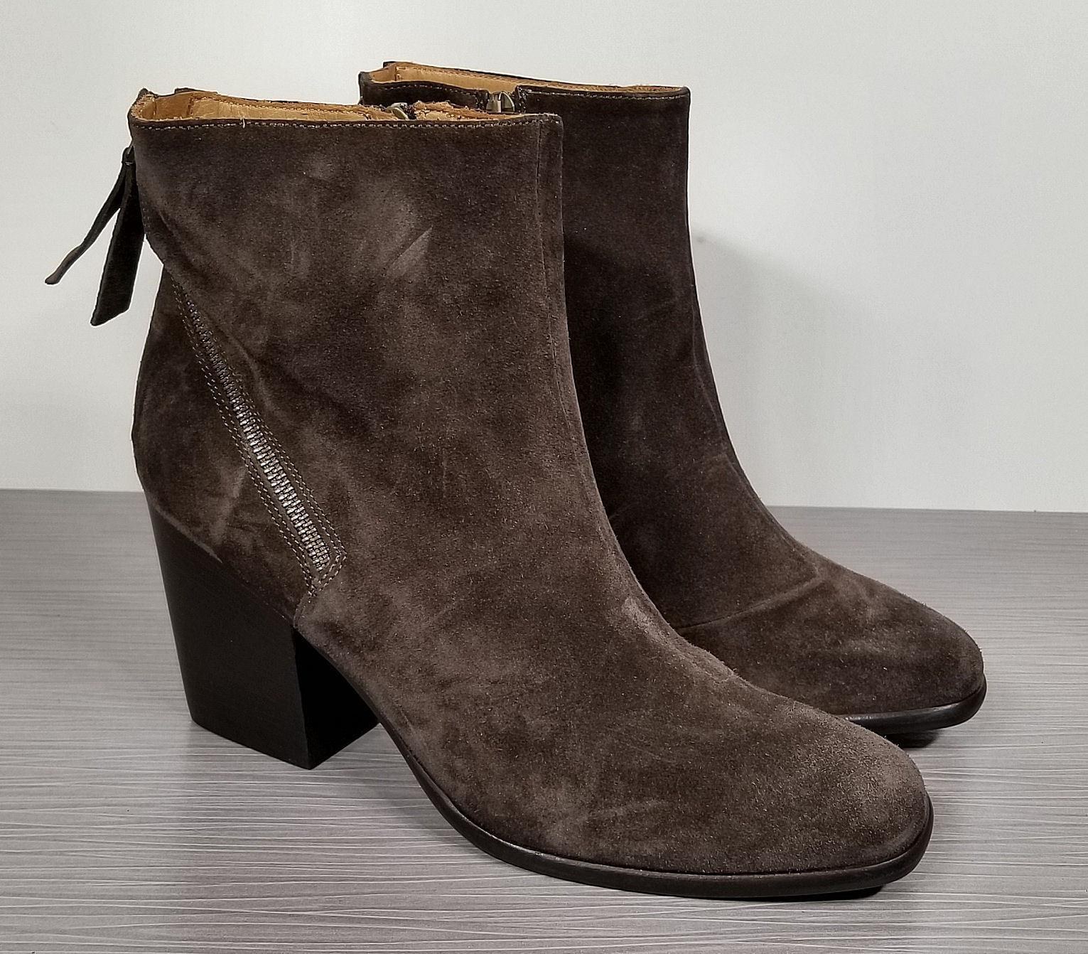 Alberto Fermani Viva Ankle Boot, Tortora (Brown) Suede, Womens Size 11 / 41