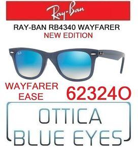 Ray Ban Occhiali da Sole Ray Ban Wayfarer Blu rb4340 62324o
