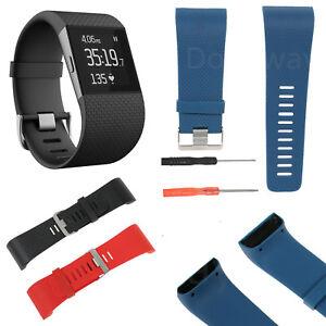 Silicone-Bracelets-de-montres-Bande-de-remplacement-Band-Pour-Fitbit-Surge