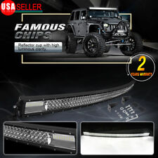 Curved 52inch Led Work Light Bar Off Road Spot Flood Combo Driving Truck Suv 4wd