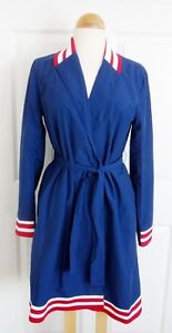 WESC-Karlie-Ladies-Trench-Coat-ESTATE-BLUE-Sz-S-SMALL-NWT-RARE-Sweden-Brand