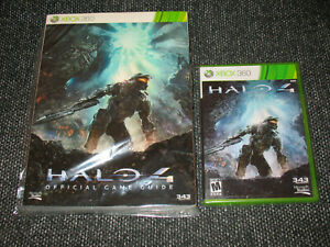 034-Halo-4-034-Xbox-360-Official-Game-amp-Guide-Both-Preowned-Complete-Ships-Boxed