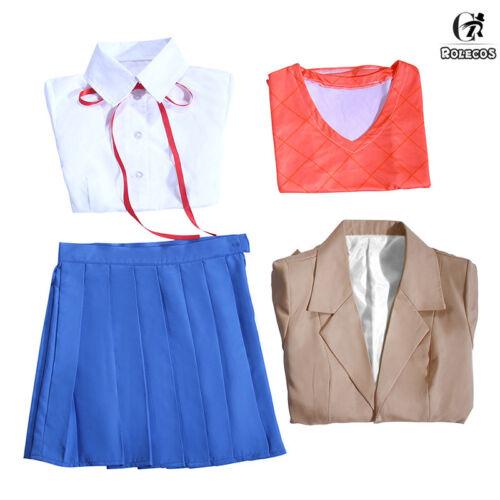 Sayori Yuri Natsuki Monika Outfit School Uniform Dress Cosplay Costume Full Set