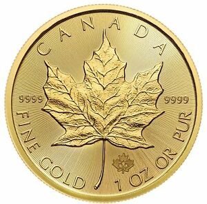2020 $50 Gold Canadian Maple Leaf .9999 1 oz Brilliant Uncirculated
