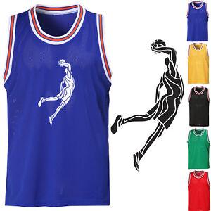 06469c31 Men's Sleeveless Mesh Basketball Jersey Slam Dunk Team Tank Top ...