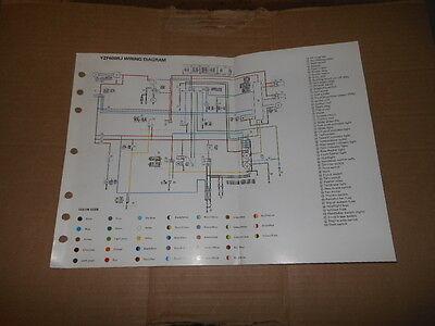 OEM Yamaha Wiring Diagram 1997 YZF600 YZF600RJ   eBay