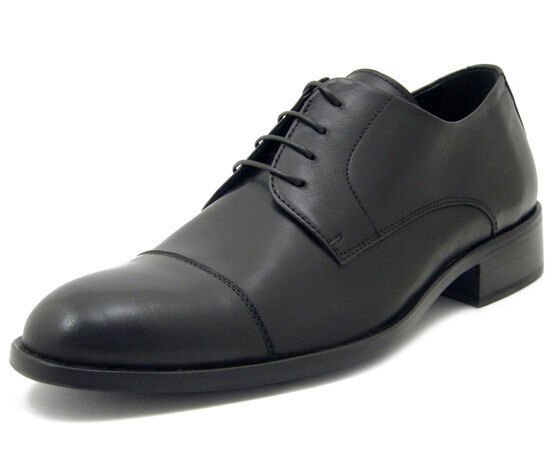 Dress zapatos men ceremony negro Nappa Leather Derby Craft Made in