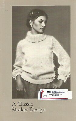 "MacAuslan Pullover Sweater Knitting Pattern Peggy Straker #777-P Womens 32/""-40/"""