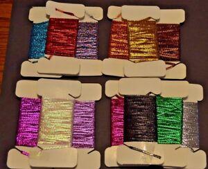 Holographic-metallic-braid-1-8-wide-butt-wraps-rod-building-CHEVRONS-DIAMOND