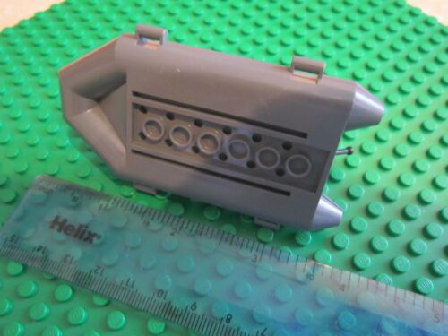 Lego Dingy Rowing Boat Rigid Inflatable Craft ship with Flag GREY Raft