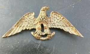 Vintage-WWII-silver-metal-EAGLE-BROOCH-Sweetheart-PATRIOTIC-Pin-2-5-034-Unmarked