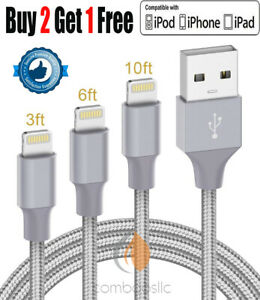 Chargeur iPhone Cable,(3FT 6FT 10FT) Fast Sync USB Lightning