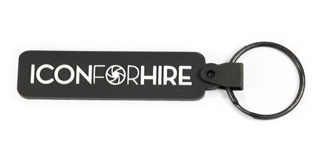 ICON FOR HIRE Rubber Keychain Keyring Key Chain Key Ring