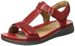 Unstructured Leather Uk Sandali Red Taglia Casual Ripape D 4 5 Un Clarks Haywood AIqwxFdI