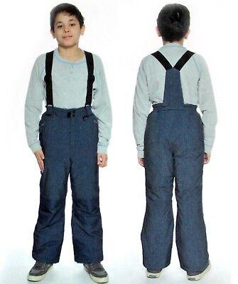 NEW Weatherproof 32 Degrees Boys/' Ski//Boarder Suspender Snow Pants Blue Variety