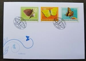 [SJ] Liechtenstein Butterfly & Moth 2010 Insect Flower (stamp FDC)