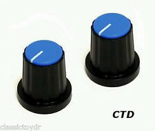Eden World Tour Traveler Bass Amplifier Control Knobs Black/BLU WT800 WT550 PAIR