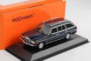 Mercedes-Benz-230-Te-W123-Estate-Blue-1982-Diecast-1-43-Minichamps-Maxichamps
