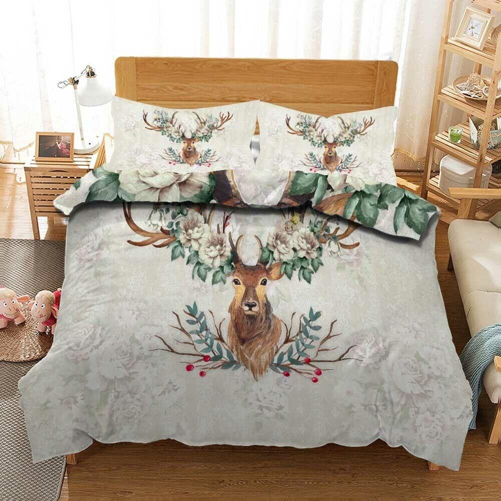 Marronee Dumb Deer 3D Printing Duvet Quilt Doona Covers Pillow Case Bedding Sets