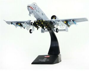 1-100-Alloy-Attack-Aircraft-A-10-Warthog-Thunderbolt-II-Airplane-Model-Toys