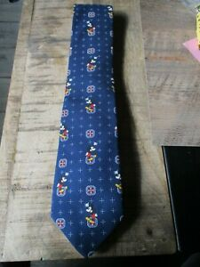 Disney-Ancienne cravate Mickey médaillon-Jamais portée-couleur bleu